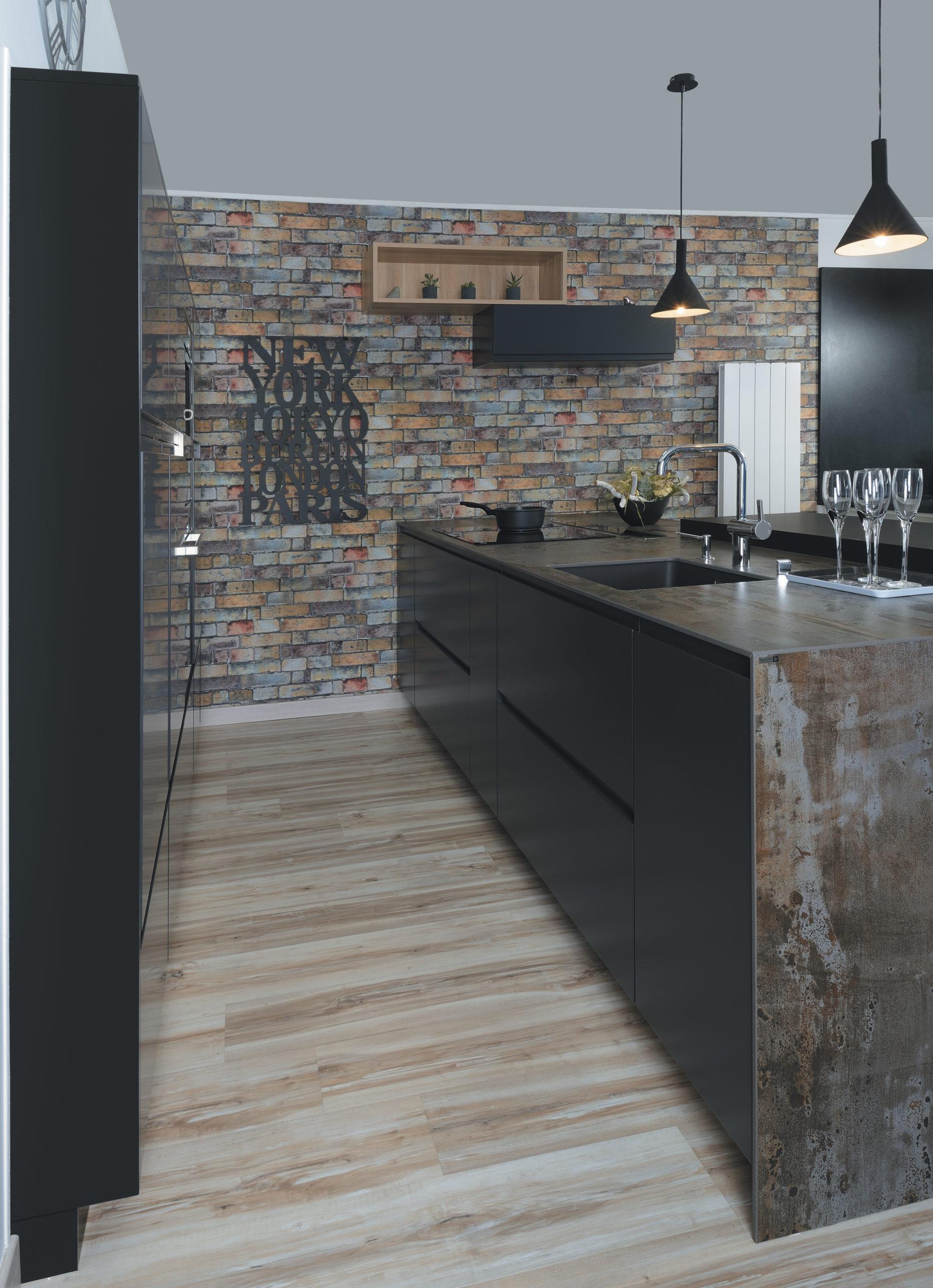 Louarn Intérieurs cuisine industrielle sur-mesure Morbihan