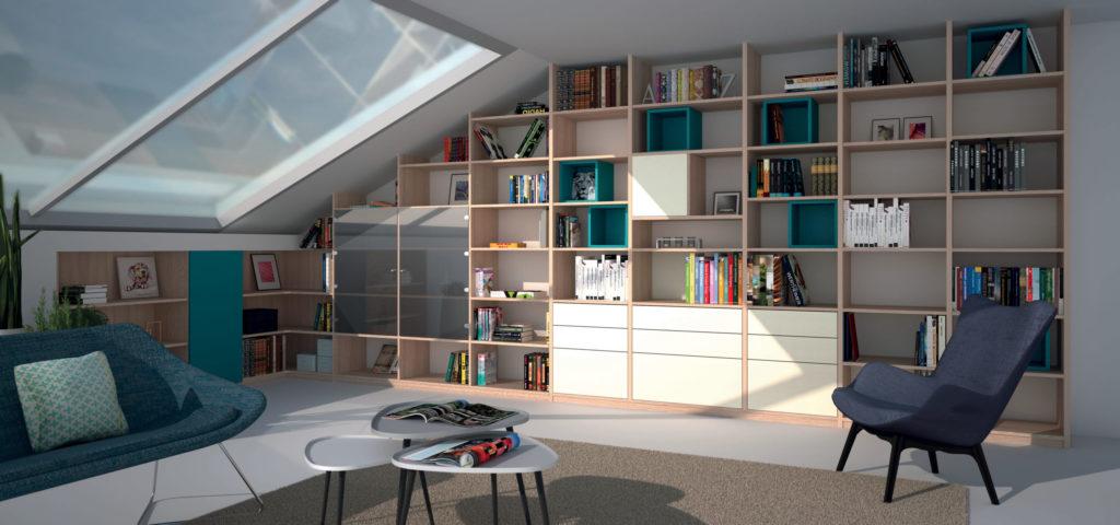Louarn Intérieur bibliothèque sur-mesure Morbihan